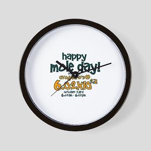 Happy Mole Day ! Wall Clock