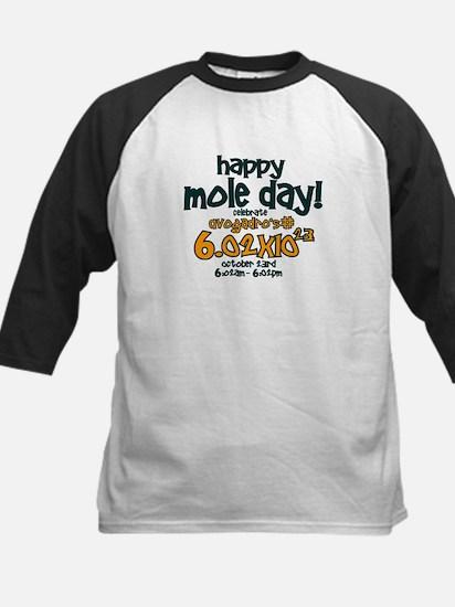 Happy Mole Day ! Kids Baseball Jersey