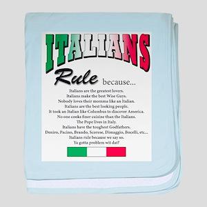 Italians Rules Infant Blanket