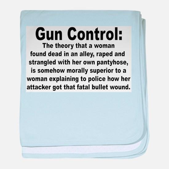 Gun Control Infant Blanket