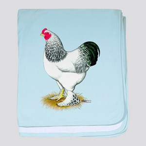 Brahma Light Rooster Infant Blanket