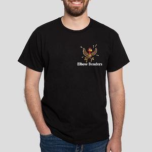Elbow Benders Logo 14 Dark T-Shirt Design Front Po