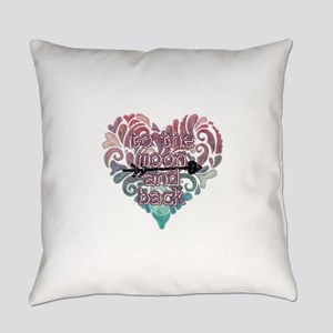 To moon and back Everyday Pillow