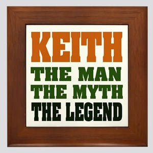 KEITH - The Legend Framed Tile