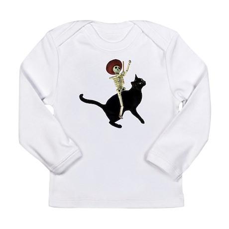 Skeleton on Cat Long Sleeve Infant T-Shirt