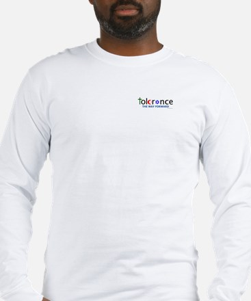 Long Sleeve T w/ chest and back logo