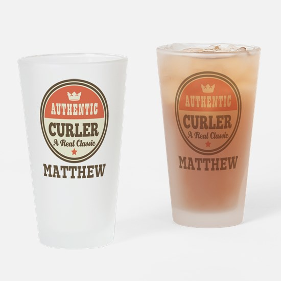Personalized Curler Gift Drinking Glass