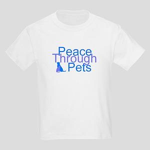 Peace Through Pets Kids Light T-Shirt