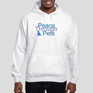 Peace Through Pets Hooded Sweatshirt