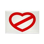 THE ANTI-HEART Rectangle Magnet (100 pack)