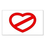 THE ANTI-HEART Rectangle Sticker