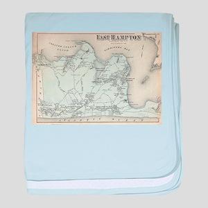 Hamptons New York Map.Hamptons Ny Map Baby Blankets Cafepress