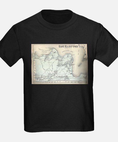 Vintage Map of East Hampton New York (1873 T-Shirt