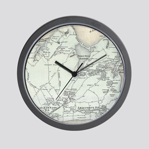 Vintage Map of East Hampton New York (1 Wall Clock