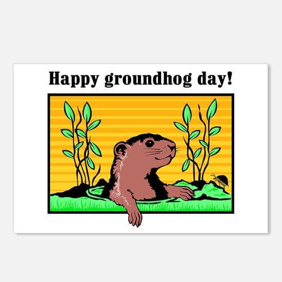 Happy groundhog day!  Postcards (Package of 8)