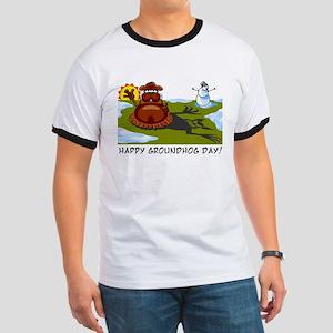 Groundhog Day Ringer T