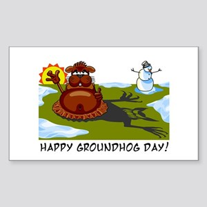 Groundhog Day Rectangle Sticker