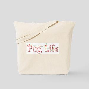 Holiday Pug Life Tote Bag