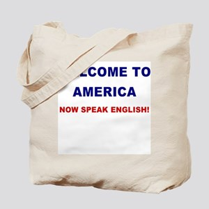 Speak English Tote Bag