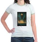 New York Central Building Jr. Ringer T-Shirt