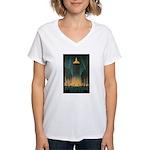 New York Central Building Women's V-Neck T-Shirt