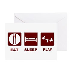 Eat Sleep Play Greeting Cards (Pk of 20)