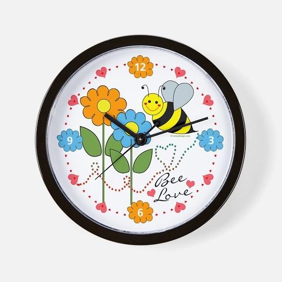 Bee Love Wall Clock