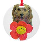 puppy flower power Ornament