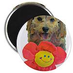 puppy flower power Magnets