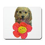 puppy flower power Mousepad