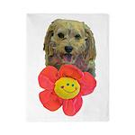 puppy flower power Twin Duvet Cover