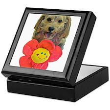 puppy flower power Keepsake Box