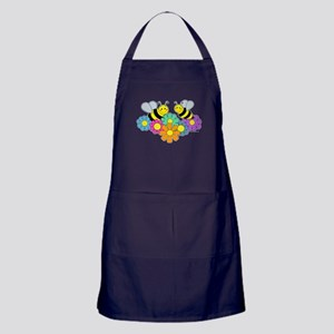 Bees & Flowers Apron (dark)