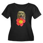 puppy flower power Plus Size T-Shirt