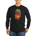 puppy flower power Long Sleeve T-Shirt