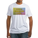 I golf, therefore I am (pink) Fitted T-Shirt