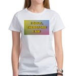 I golf, therefore I am (pink) Women's T-Shirt