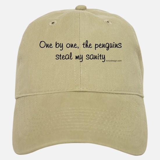 One by one, the penguins.. Baseball Baseball Cap