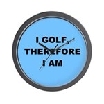 I golf, therefore I am Wall Clock