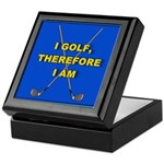 I golf, therefore I am Keepsake Box