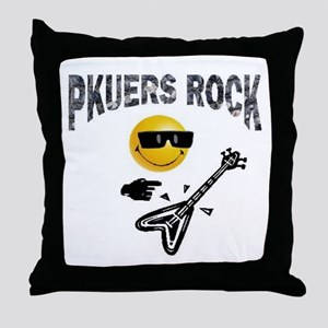PKUERS ROCK Gifts Throw Pillow