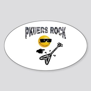 PKUERS ROCK Gifts Oval Sticker