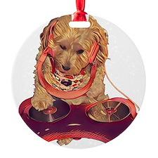 DJ Dog E Dog Ornament