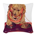 DJ Dog E Dog Woven Throw Pillow