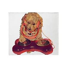 DJ Dog E Dog Throw Blanket