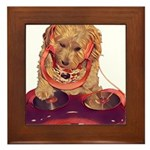 DJ Dog E Dog Framed Tile