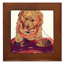 DJ Dog E Dog Framed Tile