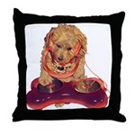 DJ Dog E Dog Throw Pillow