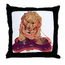 DJ Dog E Dog Throw Pillow
