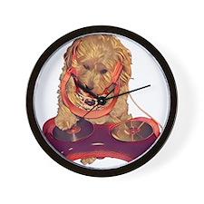 DJ Dog E Dog Wall Clock